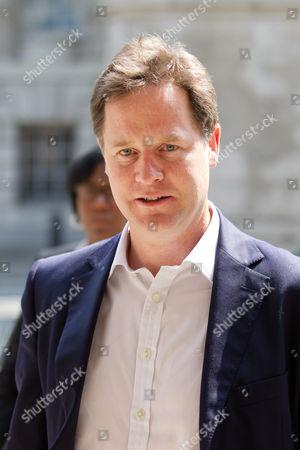 Editorial picture of Duwayne Brooks meeting Deputy Prime Minister Nick Clegg, Whitehall, London, Britain - 05 Jul 2013