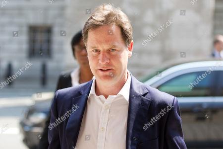 Editorial photo of Duwayne Brooks meeting Deputy Prime Minister Nick Clegg, Whitehall, London, Britain - 05 Jul 2013