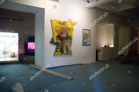 Stock Image of Chelsea Art Galleries- Barbara Gladstone New York USA