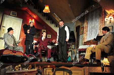 'The Ladykillers'- cast (L-R) Chris McCalphy,Con O'Neill,Ralf Little,John Gordon Sinclair and Simon Day.