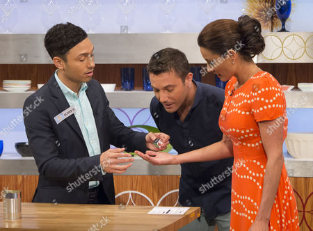 Stock Picture of Oliver B, Gino D'Acampo and Melanie Sykes
