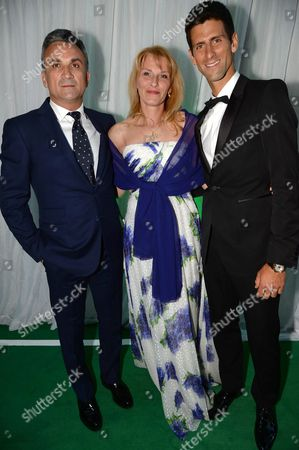 Stock Image of Novak Djokovic and Dijana Djokovic and Srdjan Djokovic