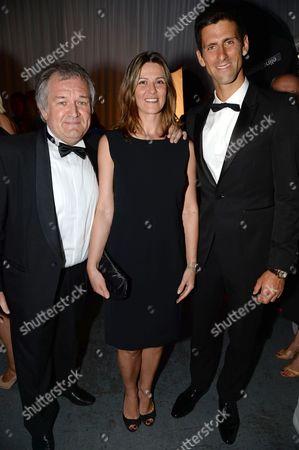 Brian Rasic, Branislava Rasic and Novak Djokovic