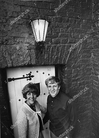 Footballer Francis Lee With Wife Jean Lee Outside Their Newly Converted Cottage In Westhoughton Lancashire.