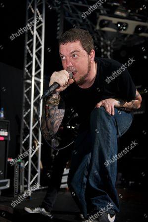 Prestatyn United Kingdom - March 16: Mark Hunter Of American Metal Band Chimaira Performing Live Onstage At Hammerfest March 16 2012 Prestatyn