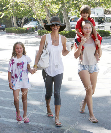Brooke Burke Charvet, Heaven Rain, Neriah Fisher and son Shaya Braven