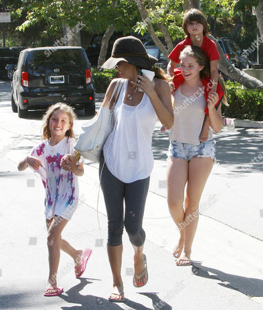 Editorial photo of Brooke Burke and family out and about, Los Angeles, America - 08 Jul 2013