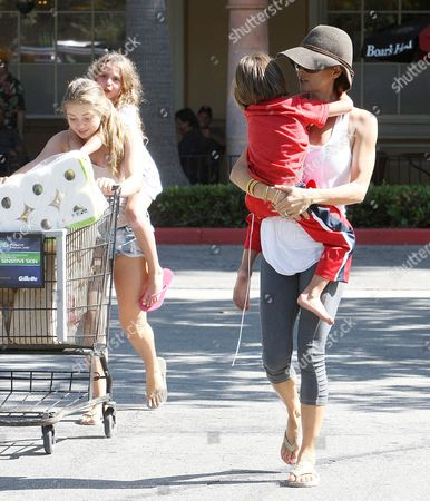 Editorial picture of Brooke Burke and family out and about, Los Angeles, America - 08 Jul 2013