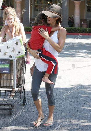 Editorial image of Brooke Burke and family out and about, Los Angeles, America - 08 Jul 2013