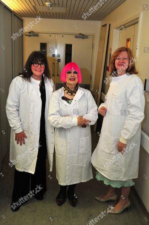 Baroness Delyth Morgan, Chief Executive Officer Breast Cancer Campaign, Zandra Rhodess and Victoria Borwick Deputy Mayor of London