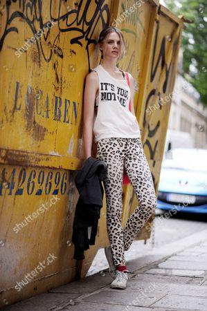 Editorial image of Street style, Paris Fashion Week, France - Jul 2013