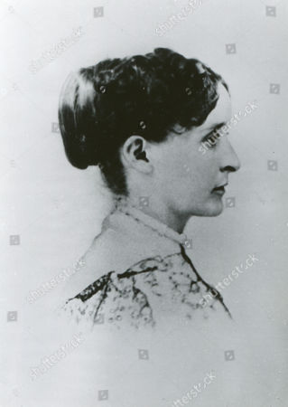 circa 1860 - Mrs. John B. Gordon (Rebecca Haralson), as she appeared during Civil War while she accompanied her husband on his campaigns.stockfényképe