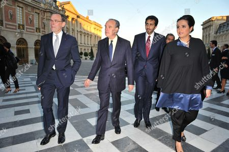 Jean-Jacques Aillagon, Chateau De Versailles President, Al Mayassa Bint Hamad Al-Thani and Frederic Mitterrand, French Culture Minister