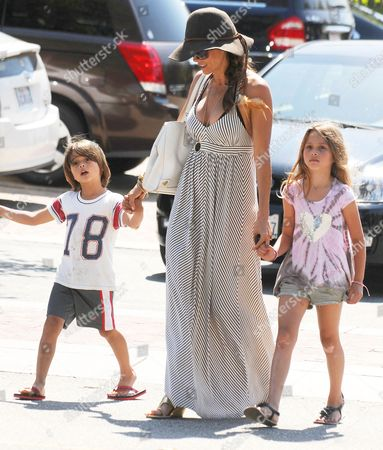 Brooke Burke Charvet with son Shaya Braven and daughter Heaven Rain