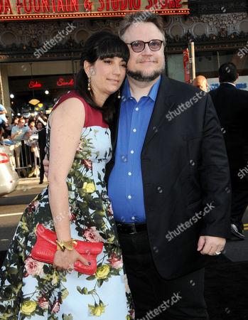 Guillermo Del Toro and wife Lorenza Newton