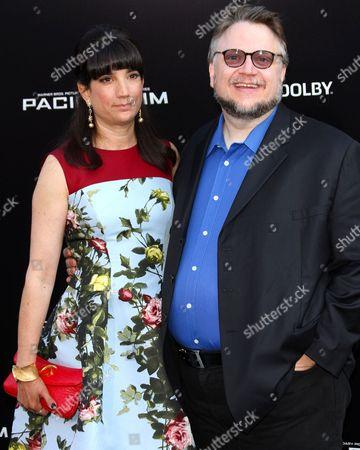 Stock Photo of Guillermo Del Toro and wife Lorenza Newton