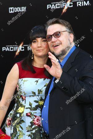 Stock Image of Guillermo Del Toro and wife Lorenza Newton