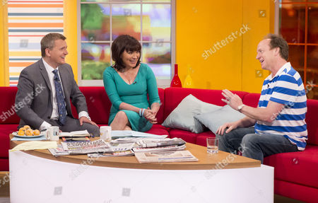 Aled Jones and Lorraine Kelly with Ben Hatch