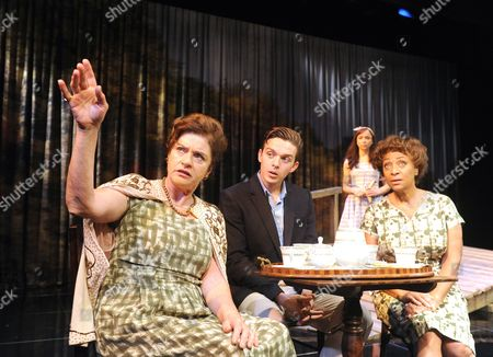 Diana Quick as Eva, Luke Allen-Gale as Nick, Emily Taafe as Lili, Dona Croll as Olivia,