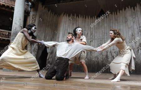 Joseph Millson as Macbeth, Moyo Akande as Witch, Cat Simmons as Witch, Jess Murphy as Witch