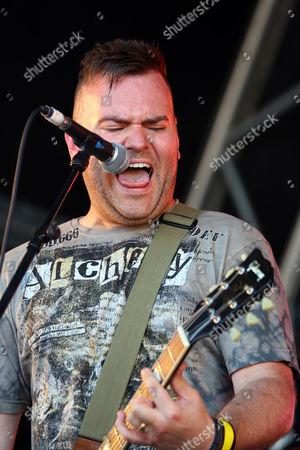 Steve Leonard of Faith n Fury performing at the Danson Festival, Bexleyheath, London