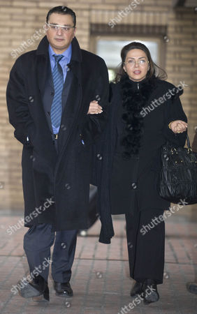 Ali Dizaei Leaves Southwark Crown Court With His Wife Shay. 9.2.12