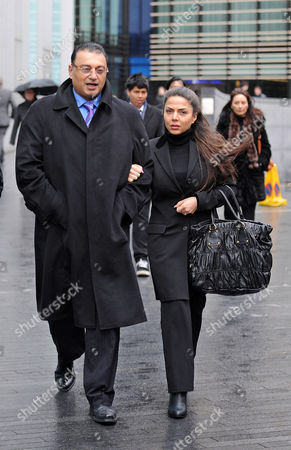 London. Scotland Yard Commander Ali Dizaei Arriving Back At Southwark Crown Court With His Wife Shy This Afternoon. 13/02/12