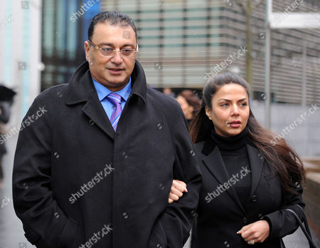 Editorial image of Scotland Yard Commander Ali Dizaei Arriving Back At Southwark Crown Court With His Wife Shy This Afternoon. Stephanie Schaerer 00447878466804.