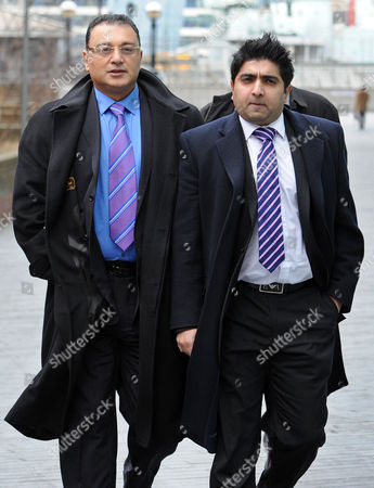 Scotland Yard Commander Ali Dizaei Leaving Southwark Crown Court With His Entourage This Afternoon.