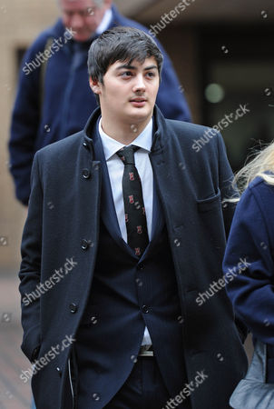 Koroush Dizaei The Son Of Ali Dizaei Leaving Southwark Crown Court This Afternoon.