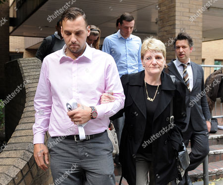 Editorial picture of London. Julia Tomlinson The Widow Of Iantomlinson Leaves Southwark Crown Court With Her Son Paul King And Other Family Members After The First Day Of The Trial Of Pc Simon Harwood Who Is Accused Of Manslaughter Of Her Husband Ian Tomlinson. Stephanie