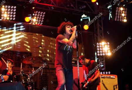 Reading United Kingdom - August 24: Cedric Bixler-Zavala Of American Post-hardcore Band At The Drive-in Performing Live Onstage At Reading Festival August 25
