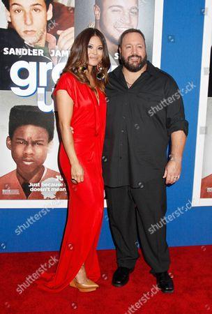 Steffiana de la Cruz and Kevin James