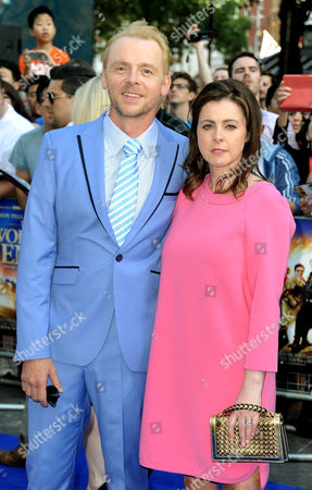 Stock Picture of Simon Pegg and Maureen McCann