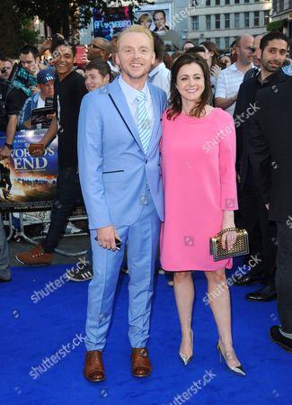 Simon Pegg and Maureen McCann