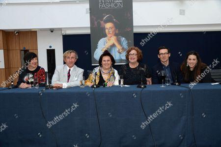 Alice Rawsthorn, Jasper Conran, Suzy Menkes, Erdem Moralioglu and Mary Katrantzou