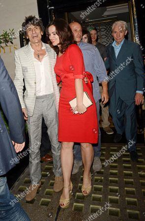 Ronnie Wood, Sally Humphreys and Charlie Watts