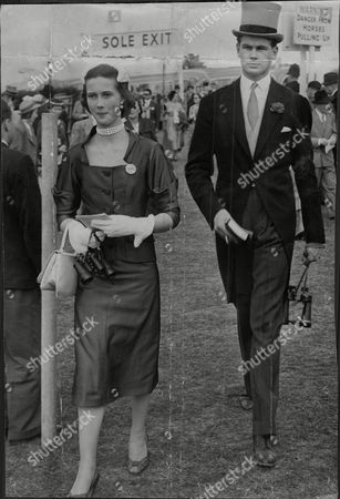 Joanna Smith-bingham And Her Brother Charles Smith-bingham Attend Ladies Day Horse-racing Meeting.