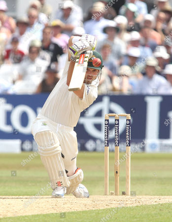 Australia's Ed Cowan plays straight England v Australia - 1st Investec Test Match - Ashes Series 2013 - Day 4 - Trent Bridge - Nottingham - 13/07/2013