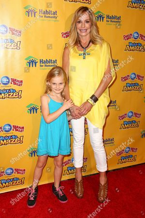 Stock Image of Taylor Armstrong and daughter Kennedy Armstrong