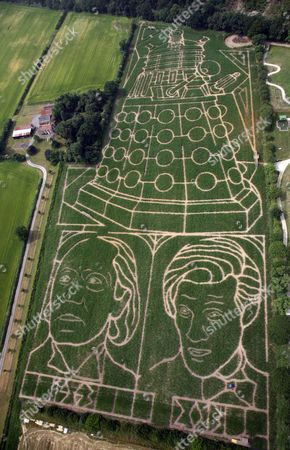 The 18 acres that is the York Maize Maze - featuring the biggest image of a Dalek in the world, plus the first Doctor, William Hartnell, and the present Doctor, Matt Smith