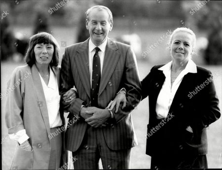 Sas Man Fred Dusty Rhodes Outside The Television Studios In Maidstone With Sister Margret Rose And Pat Cahill.