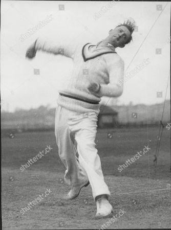 Albert Dusty Rhodes Cricketer Derbyshire County Cricket Club.