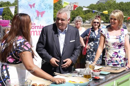 Shelina Permalloo with Presenters Eamonn Holmes and Ruth Langsford