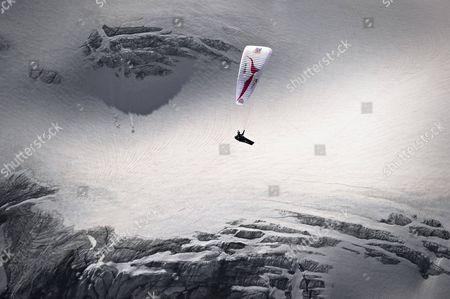 Christian Maurer of Switzerland performs at the Matterhorn