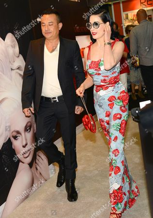 Stock Picture of John Blaine and Dita Von Teese