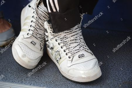 Triple Jump Athlete Phillips Idowu Wearing Star Wars Training Shoes London 2012 ).