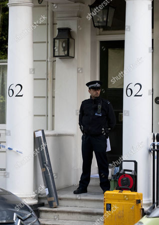 Scenes Of Crime And Forensic Police Officers Arrive At The Home Of Hans Kristian Rausing Cadogan Place Belgravia London Where The Body Of The Late Eva Rausing Was Found On Monday 05.07.12.