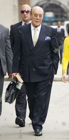 Asil Nadir And His Wife Nur Arrive At The Old Bailey Today 15/7/12. Nadir Is On Trial Over The Collapse Of Polly Peck.