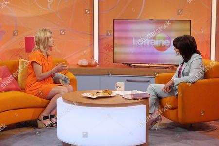 Lauren Drummond and Presenter Lorraine Kelly